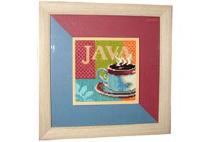 Вышивка крестиком чашка Java