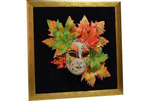 Оформление венецианской маски в раму