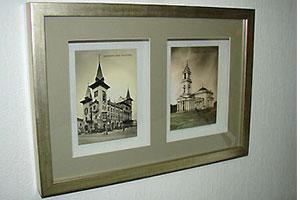Оформление фотографий между стекол