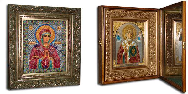 Оформление иконы в оклады и киот