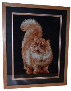 Вышивка рыжий кот