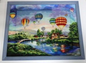 Вышивка воздушные шары с дорисовкой