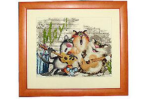 Вышивка крестом кошачий квартет