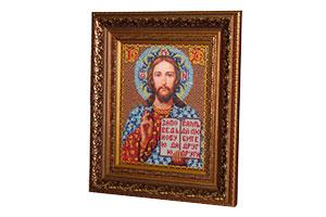 Икона бисером Иисус Христос