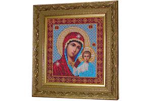 Вышивка бисером Казанская Богоматерь